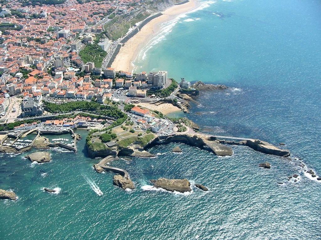Location à Biarritz vue aérienne